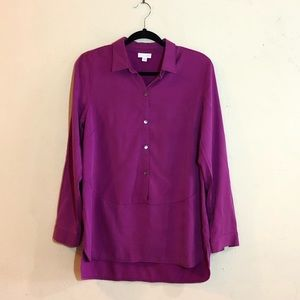 J. Jill long sleeve magenta colored blouse, GUC.